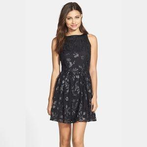 BB Dakota Chaun Leather Appliqué Dress Sz 4